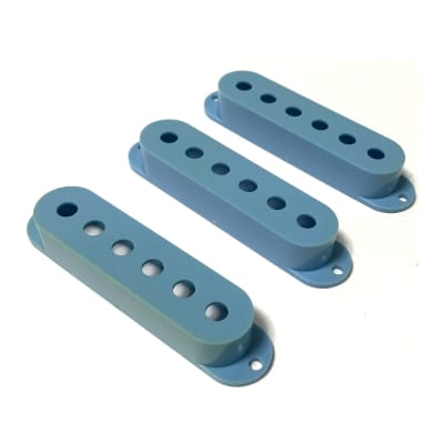 Single Coil Stratocaster Pickup Covers Aged Blue 3pcs
