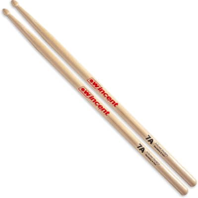 Wincent 7A Hickory Drumsticks, Wood Tip