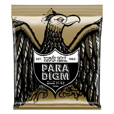 Ernie Ball P02088 Paradigm Light 80/20 Bronze Acoustic Guitar Strings (11-52)