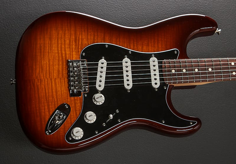 fender player stratocaster plus top tobacco sunburst w pau reverb. Black Bedroom Furniture Sets. Home Design Ideas