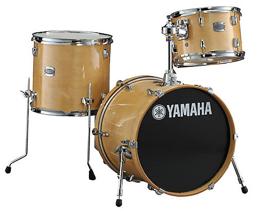 yamaha stage custom birch jazz 3pc drum set natural wood