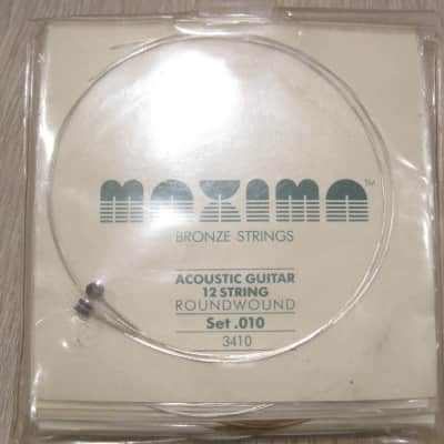 Maxima 3410 Bronze Round Wound 12-String Acoustic Guitar Strings for sale