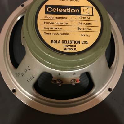 Celestion G12M 1511 Greenback 55Hz 16ohm Speaker 1981