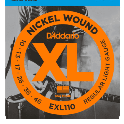 D'Addario EXL110 Nickel Wound Electric Guitar Strings - 10/46