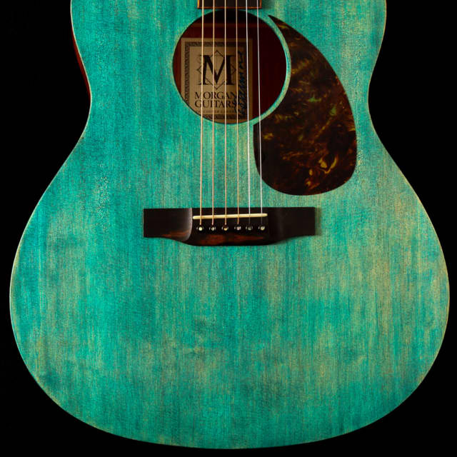 Morgan Guitars - Bare Bones Concert Slope Shoulder in Aged Sea Green image