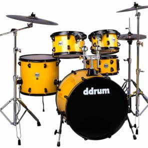 """ddrum J2P-522-FY Journeyman Player Gen2 7x10"""" / 8x12"""" / 14x16"""" / 18x22 w/ 7x13"""" Snare 5pc Drum Set"""