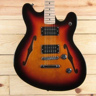 Squier Affinity Starcaster, Maple Fingerboard, 3-Color Sunburst for sale