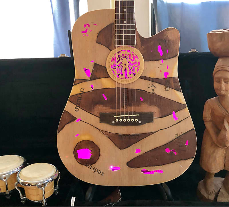 Custom Acoustic Guitar, Internal Lights, Unique Soundholes, Calling Sad  Songwriters! Mucho Mojo!