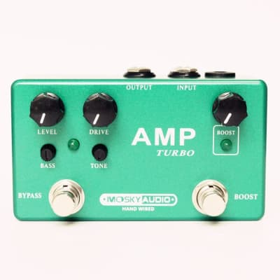 MOSKY AMP TURBO 2-in-1 Guitar Effect Pedal Boost Classic Overdrive Effects True Bypass Full Metal Sh