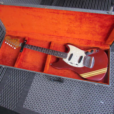 1971 Fender Mustang Competition Red W/OHC Cool Vintage Fender Competition Red Mustang Plays Great! for sale