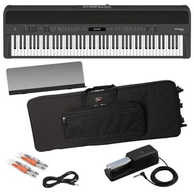 ROLAND FP-90 DIGITAL PIANO - BLACK PERFORMER PAK