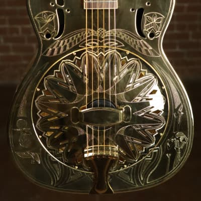 Regal 2002 Gold Presentation Egyptian Resonator Cutaway RC-40CE for sale