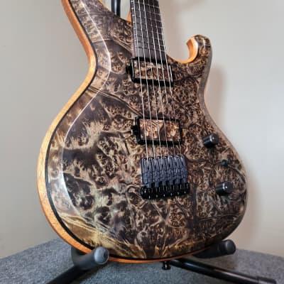 Barlow Guitars  Falcon II 2020 Camphor Burl / Spanish Cedar / Ebony