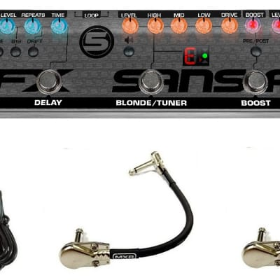 Tech 21 Fly Rig 5 V2 Multi-Effects Pedal Reverb Delay Blonde Boost Plexi ( 2 MXR PATCH CABLES )