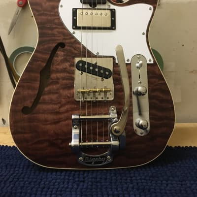 Brown Bear Guitars Thinline Bigsby tele with McNelly pickups for sale