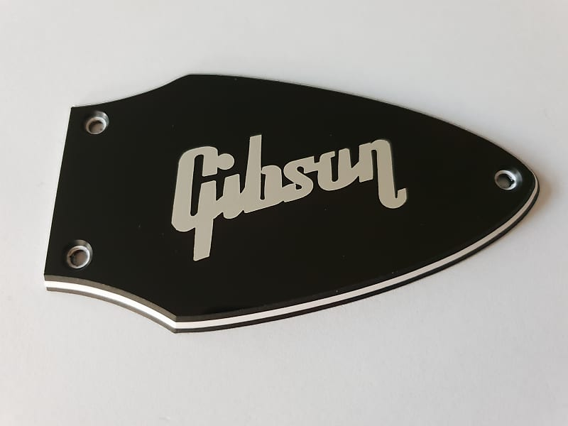 3-PLY BLACK PEARLOID NEW Bell-Shaped Truss Rod Cover For Gibson