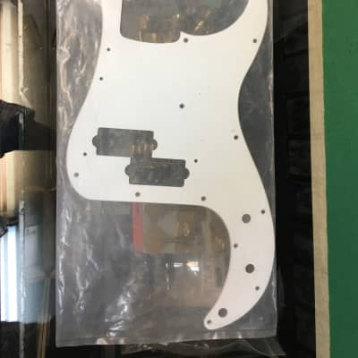 WD Music Products PB402 Pre Bass White Pickguard for sale