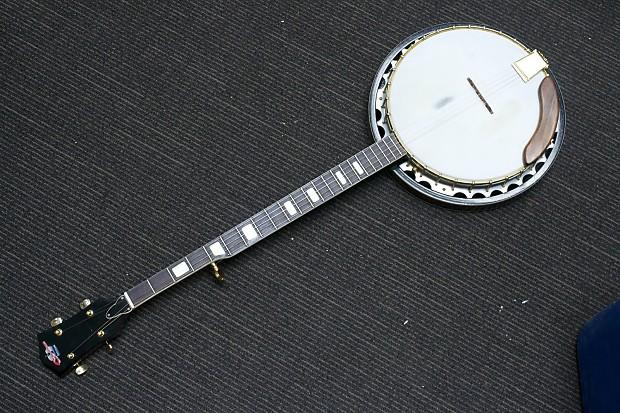 Vintage Checkmate 5 String Banjo Natural Chrome Japan Reverb