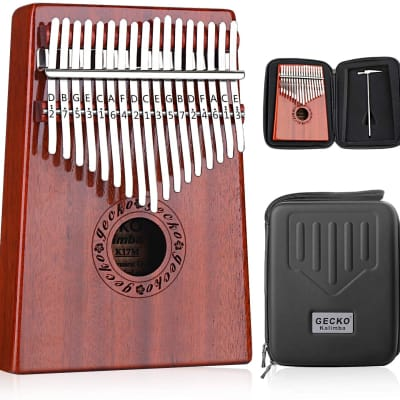 Kalimba 17 Keys Thumb Piano with Waterproof Protective Case and Accessories Full Kit Bundle