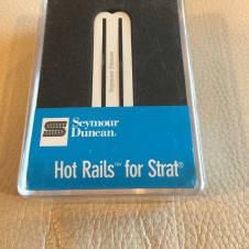 Seymour Duncan Hot Rails for Strat Bridge Pickup SHR-1b  White