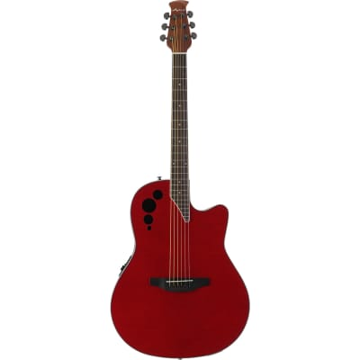 Ovation Applause Elite AE44IIP Acoustic/Electric Guitar (Transparent Cherry Flame) for sale