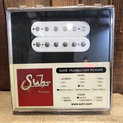 Suhr SSV Humbucker Guitar Pickup, Bridge Position, 53mm Spacing, White