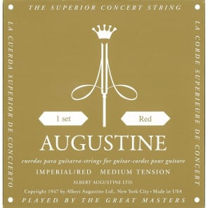 Augustine Imperial Red Medium Tension Classical Guitar Strings