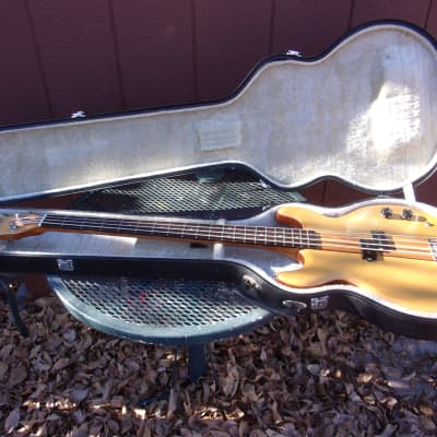 Memphis MC-300 bass, 1970's, natural, neck thru hippie sandwich, hard case, all original, Cipollina for sale