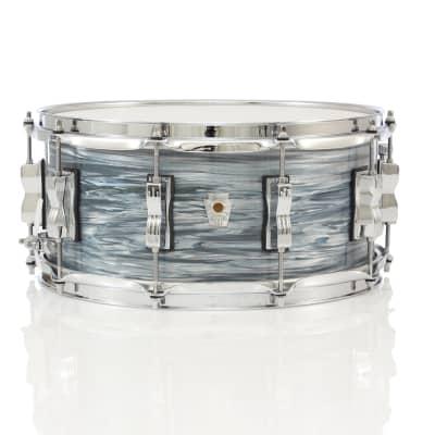 "Ludwig Keystone X 14"" x 6.5"" Snare Drum - Vintage Blue Oyster"