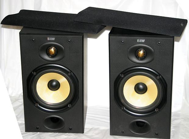 B W Bowers Wilkins 601 Dm601 Bookshelf Speakers 2 Way Monitors With Kevlar Woofer Black Nice