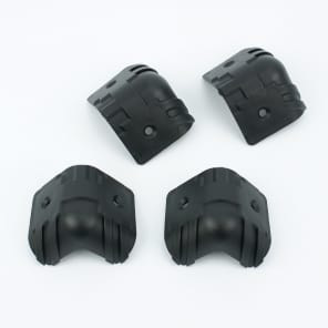 a Set of 4 Guitar Amp Speaker Cabinet Hard Plastic Corners, Black 43mm