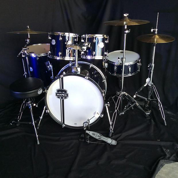 Mapex Voyager 5 Pc Complete Drum Kit W Hardware Floor Reverb