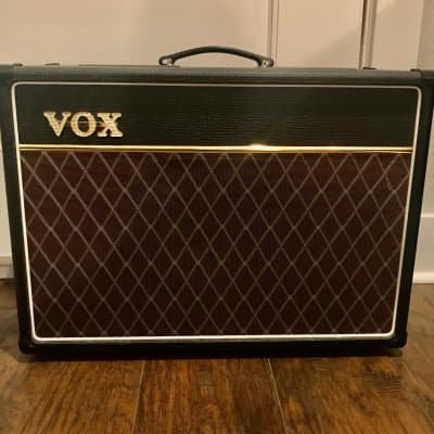 """Vox AC15 1x12"""" 15-watt Tube Combo Amp with Alnico Blue Speaker with Footswitch and Stand"""