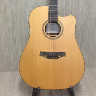 Klema Solid Cedar Top,Dreadnought Acoustic Guitar,Cutaway W Gig Bag k100DC-CE for sale