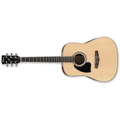 Ibanez PF Series PF15L Left Handed Acoustic Guitar with Spruce Top, Mahogany Back & Sides, 20 Frets, Mahogany Neck, Rosewood Fretboard, Natural High G
