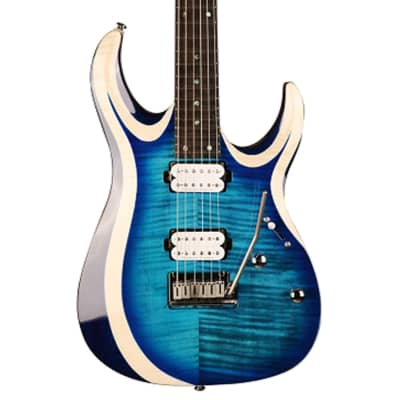 Cort X700 Duality, Flamed Maple on Swamp Ash Body, Light Blue Burst Electric Guitar for sale