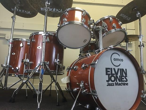 Elvin Jones S Complete 1970s Camco Tama Drum Set Reverb