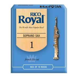 Rico RIB1010 Royal Soprano Saxophone Reeds - Strength 1.0 (10-Pack)