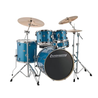 Ludwig LCEE22023 Element Evolution 5-piece Drum Set - Blue Sparkle