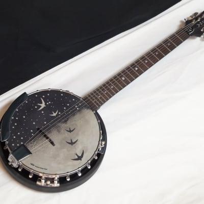 LUNA Moonbird Bluegrass RESONATOR 6-string electric BANJITAR Banjo GUITAR new for sale