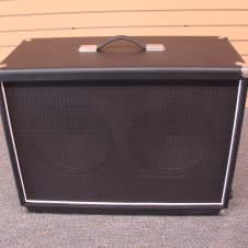 Bludotone 2x12 Oval Back Cabinet Black Guitar Extension Cab 212 w/ Marshall G12 Celestion Speakers