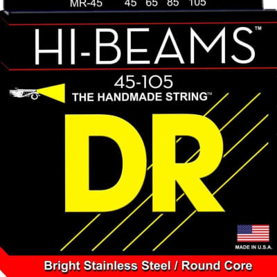 DR HI-BEAM™ - Stainless Steel Bass Strings: Medium 45-105