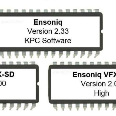 Ensoniq VFX-SD Version 2.00 and KPC 2.33 firmware OS update EPROM set