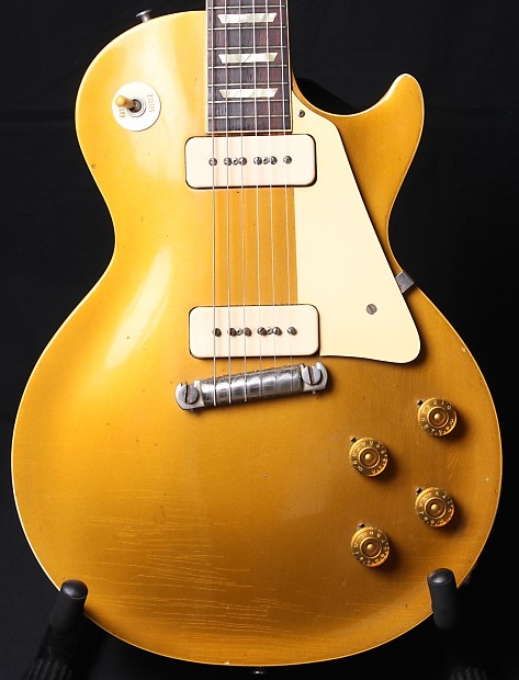 747c32cde12423 1955 Gibson Les Paul Standard All Gold Goldtop OHSC P90 s