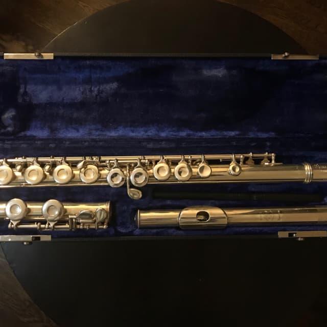 Custom Handmade Gemeinhardt 2S Used Solid Silver Flute image