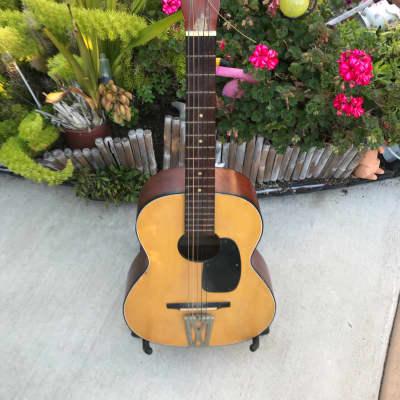 Vintage Rare 60's Japanese Made Lindell Parlor Guitar for sale