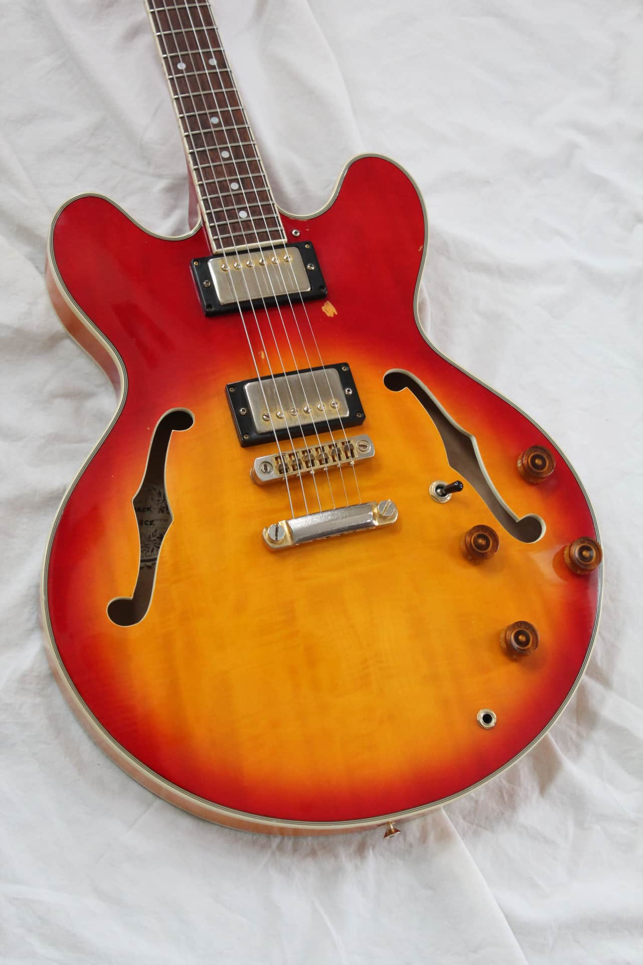 80s hondo revival h935 semi hollow body electric guitar reverb swarovskicordoba Images