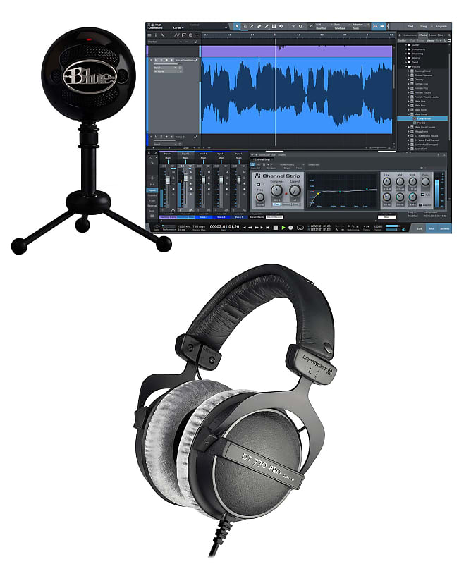 blue snowball studio gaming twitch stream microphone reverb. Black Bedroom Furniture Sets. Home Design Ideas