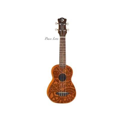 Luna Guitars Peace Love Ukulele