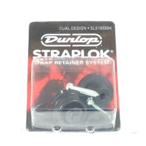 Dunlop Strap Locks - Guitar - Dual Design Strap Retainer System Black